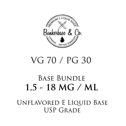 500 - 1000 ml VG 70 / PG 30 Nicotine Base Bundle 3 - 18 MG / ML