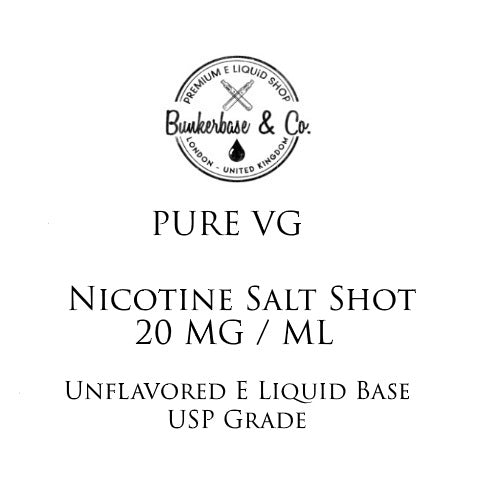 VG Nicotine Salt Shots - 10 x 10ml / 20 mg