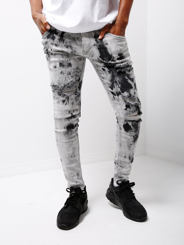 black bleached jeans 4699