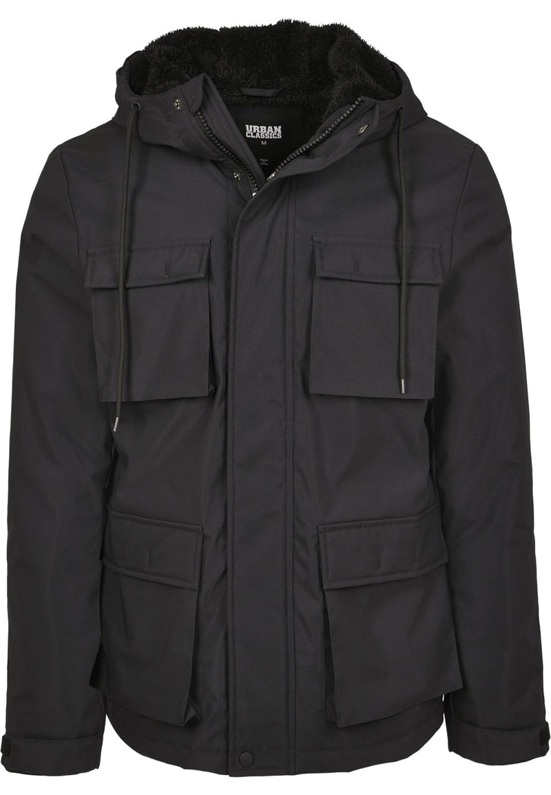 Authentic Hooded Field Jacket - All Black