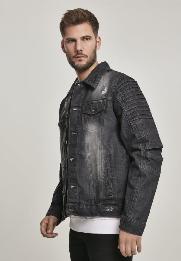 Biker Trucker Denim Jeans Jacket