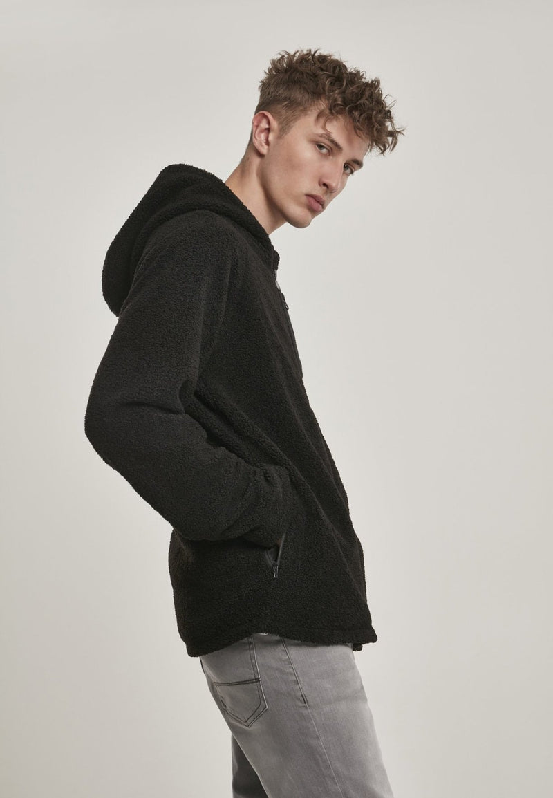 Hooded Sherpa Zip Jacket