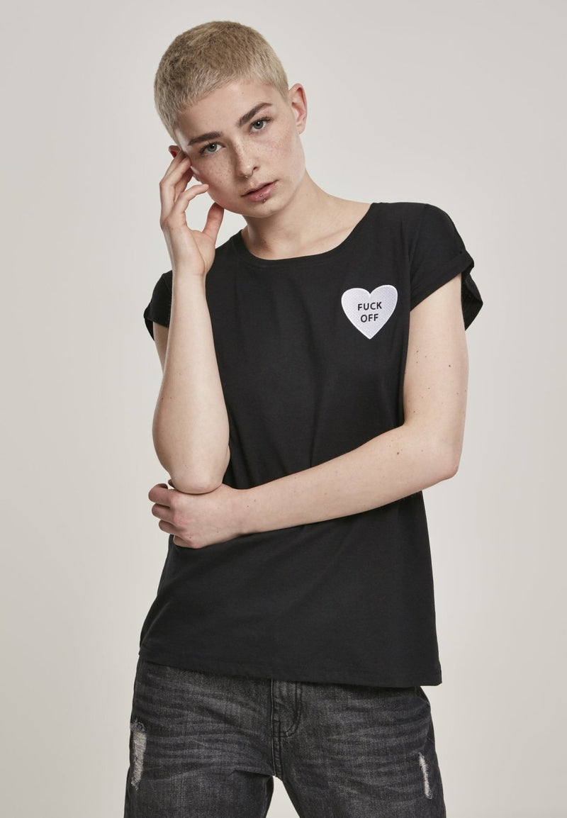 Ladies Fck Off Heart T-Shirt