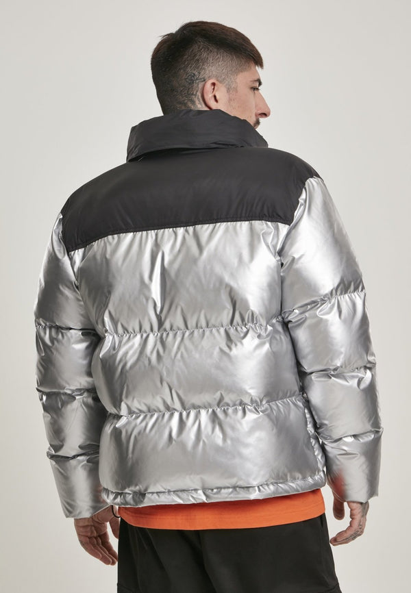 NASA Two-Toned Cool Grey Puffer Jacket