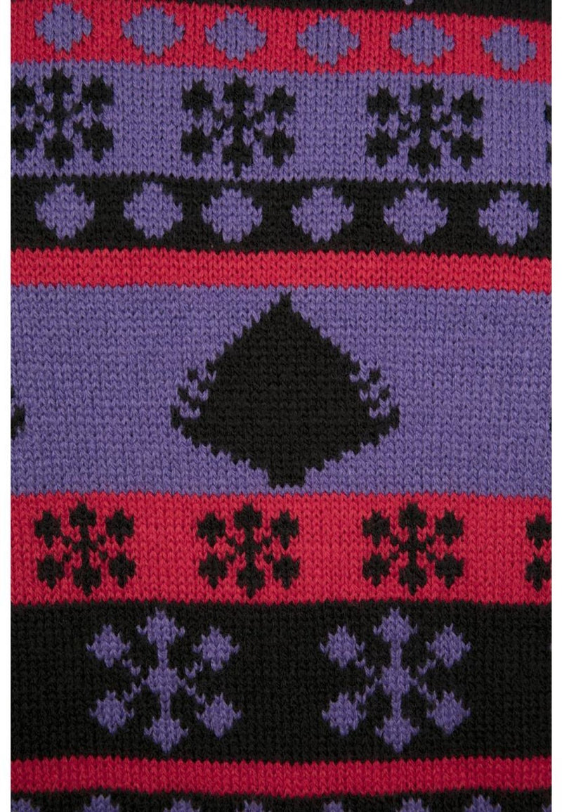 Snowflake Christmas Tree Sweater - Violet Black Red