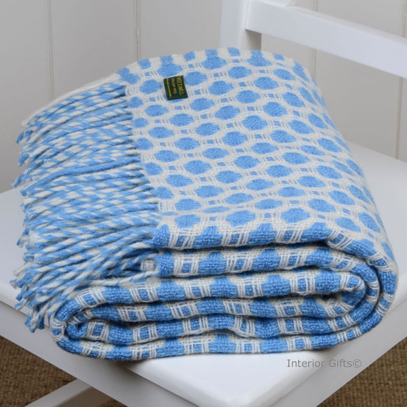 Tweedmill Crossroads Blue Throw (6675168100512)