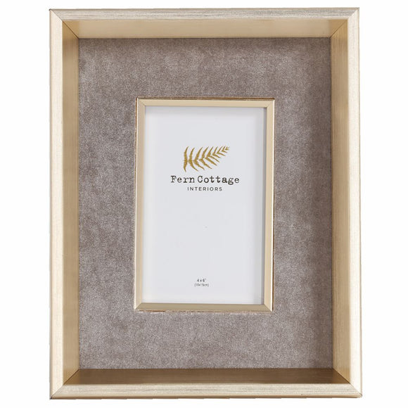 Grey Velvet Photo Frame (6673821991072)