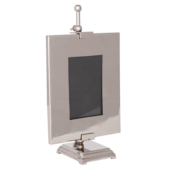 Allie Mae Living, Frame,  Allie Mae Living ,  Shiny Nickel Aluminium 6x4 Photo Frame on Stand - Allie Mae Living