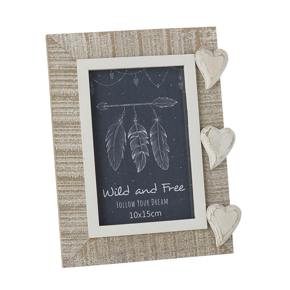 Heaven Sends, Frame,  Allie Mae Living ,  Wooden Heart Photo Frame - Allie Mae Living