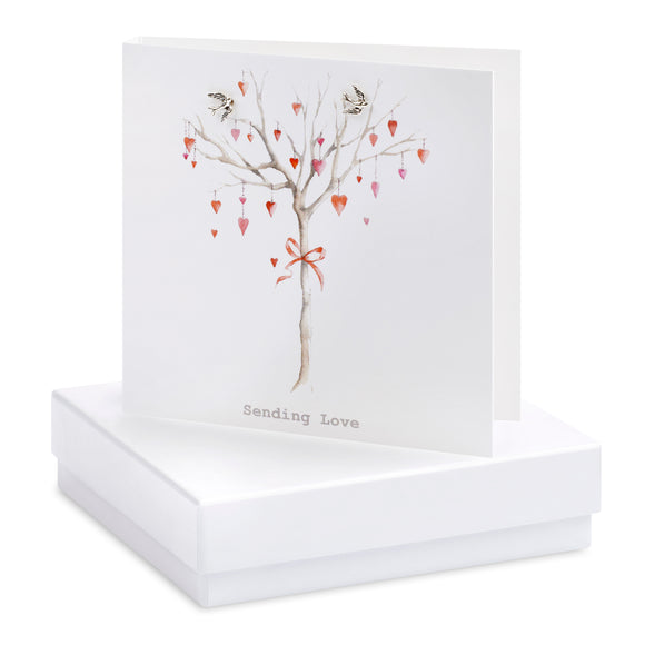 Crumble and Core, Cards,  Allie Mae Living ,  Boxed Heart Tree Earring Card - Allie Mae Living