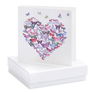 Crumble and Core, Cards,  Allie Mae Living ,  Boxed Butterfly Heart Earring Card - Allie Mae Living