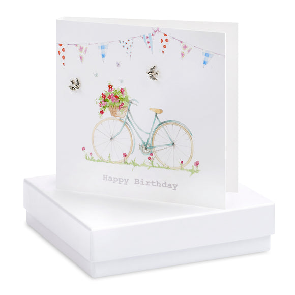 Crumble and Core, Cards,  Allie Mae Living ,  Boxed Birthday Bicycle Earring Card - Allie Mae Living