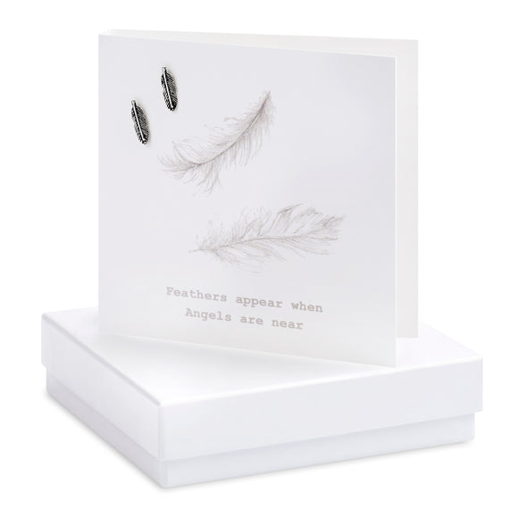 Crumble and Core, Cards,  Allie Mae Living ,  Boxed Feather Earring Card - Allie Mae Living