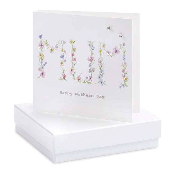 Crumble and Core, Cards,  Allie Mae Living ,  Boxed Floral Mum Earring Card - Allie Mae Living