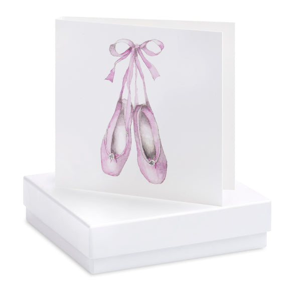 Crumble and Core, Cards,  Allie Mae Living ,  Boxed Ballet Shoes Earring Card - Allie Mae Living