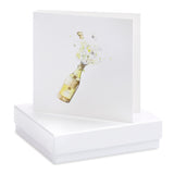 Crumble and Core, Cards,  Allie Mae Living ,  Boxed Champagne Bottle Earring Card - Allie Mae Living (4554905616480)