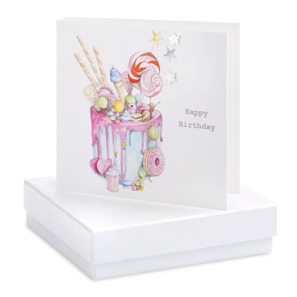 Crumble and Core, Cards,  Allie Mae Living ,  Boxed Truly Scrumptious Cake Earring Card - Allie Mae Living