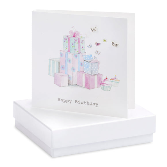 Crumble and Core, Cards,  Allie Mae Living ,  Boxed Birthday Presents Earring Card - Allie Mae Living (4554898800736)