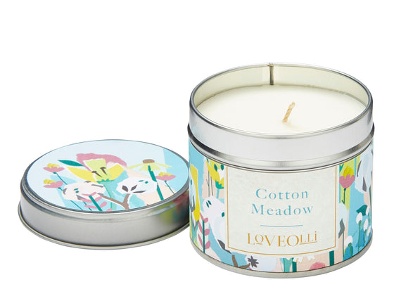 Love Olli, Candle,  Allie Mae Living ,  Cotton Meadow Tin Candle - Allie Mae Living