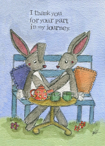 My Painted Bear, Cards,  Allie Mae Living ,  Part In My Journey - Card - Allie Mae Living