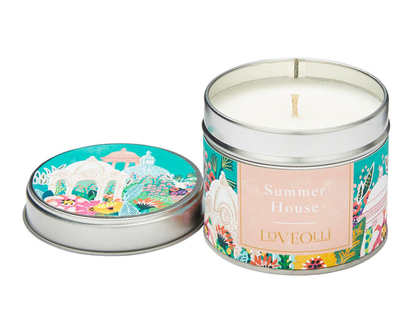 Love Olli, Candle,  Allie Mae Living ,  Summer House Tin Candle - Allie Mae Living