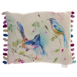 Voyage Maison, Cushion,  Allie Mae Living ,  Dancing Birds Filled Cushion - Allie Mae Living