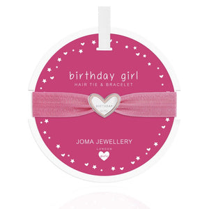 Joma Jewellery, Children's,  Allie Mae Living ,  Heart Hair Tie (Birthday Girl) - Allie Mae Living