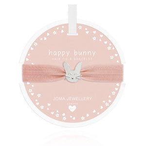 Joma Jewellery, Children's,  Allie Mae Living ,  Rabbit Hair Tie (Happy Bunny) - Allie Mae Living