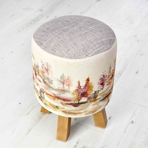 Voyage Maison, Stool,  Allie Mae Living ,  CALEDONIAN FOREST MONTY STOOL - Allie Mae Living