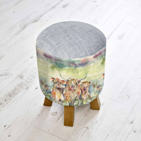 Voyage Maison, Stool,  Allie Mae Living ,  HIGHLAND HERD MONTY STOOL - Allie Mae Living
