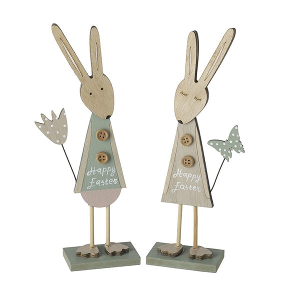 Heaven Sends, Easter,  Allie Mae Living ,  Pastel Happy Easter Standing Bunnies - Allie Mae Living