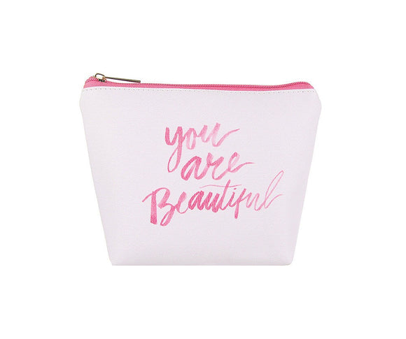 You are Beautiful Large Makeup Bag