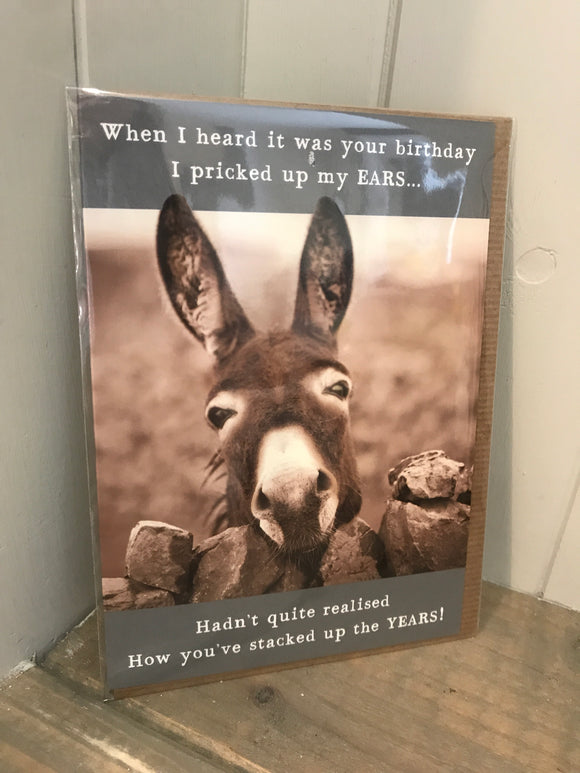I heard it was your birthday Card