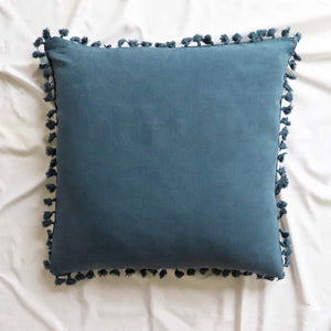 Capri Blue Tassel Boarder Cushion 50x50 (5808564732064)