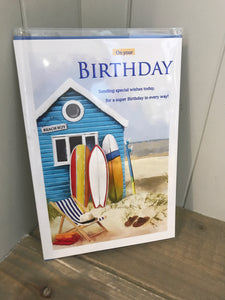 On your Birthday (Surf) Card