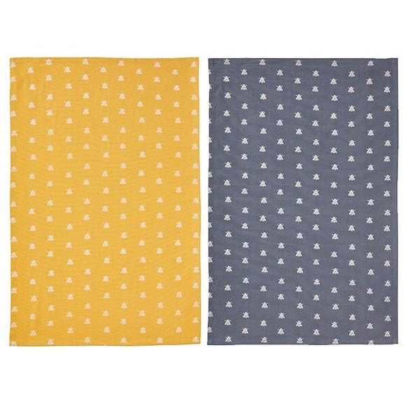 Bees Duo of Tea Towels