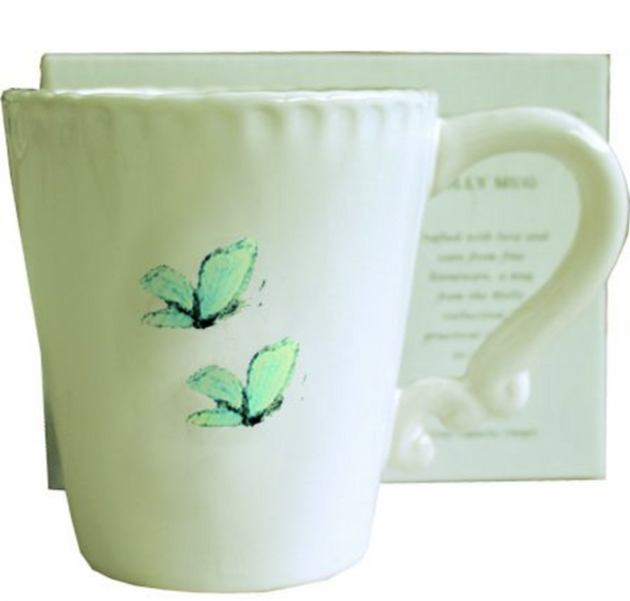 Holly Butterfly Mug