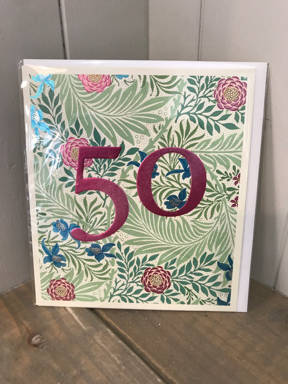 Age 50 birthday card
