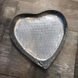 Dimpled Metal Heart Tray