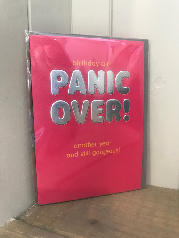 Panic Over Birthday Card