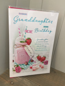 To a Special Granddaughter on your Birthday Card
