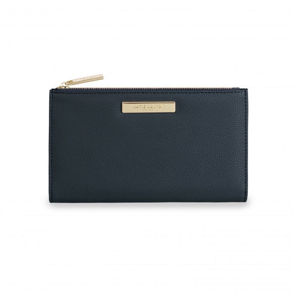 Alise Soft Pebble Fold Out Purse - Navy