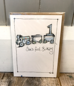 Son's First Birthday Card