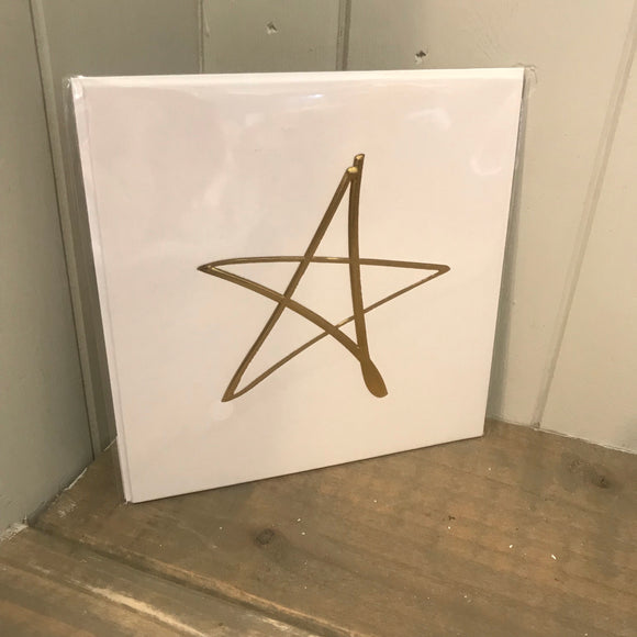 Gold Star Blank Card