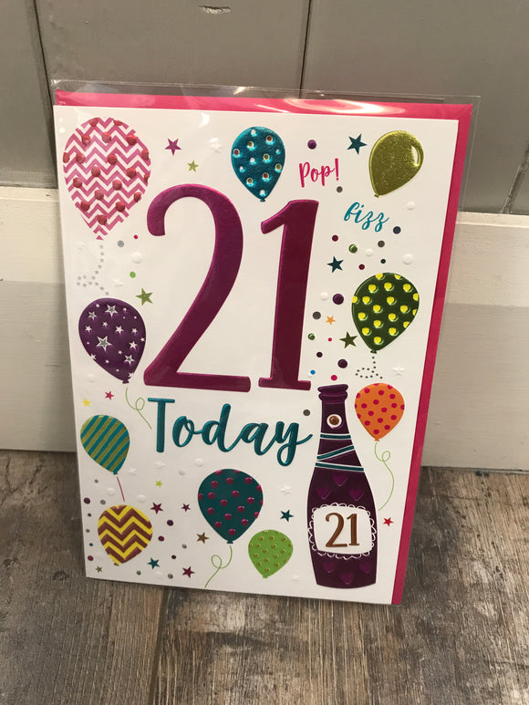 21 Today Card