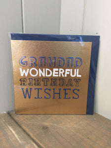 Grandad Wonderful Birthday Wishes Card