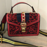 Designer Inspired Red Leopard Handbag (5752516608160)