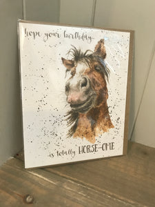 Totally Horse-ome Birthday Card