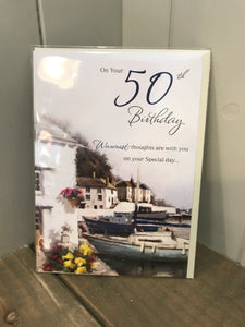 On your 50th Birthday Card