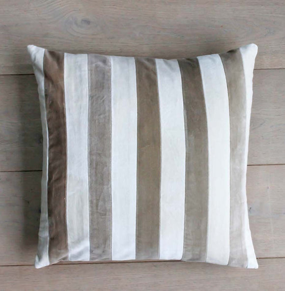 Velvet Striped Cushion 50x50 (5808675487904)